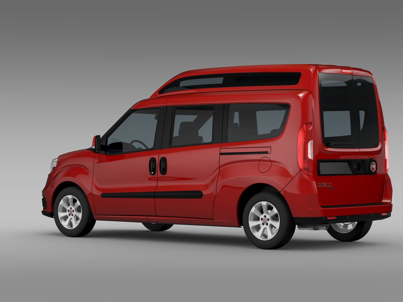 fiat doblo highroof maxi 263 2015 3d model. Black Bedroom Furniture Sets. Home Design Ideas