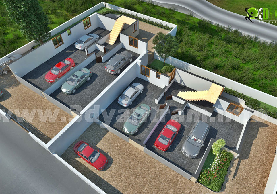 3dparkingslotcutplan show