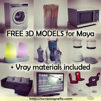 Scriptografix free 3d models for maya vray materials cover