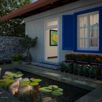 Exterior concept design   backyard pond cover