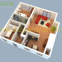 Small house 3d floor plan cgi turkey cover