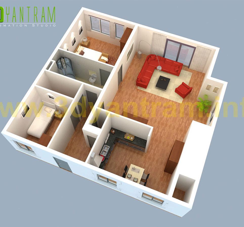Small house 3d floor plan cgi turkey show