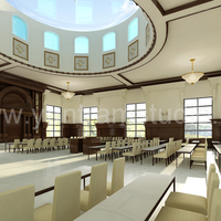 3d interior design rendering for community hall cover