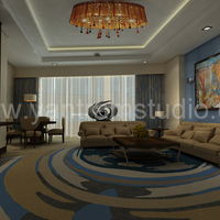 3d interior design rendering for hotel room cover