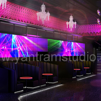 3d interior design rendering for modern bar cover