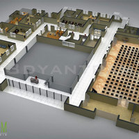 Commercial 3d floor plan design cover