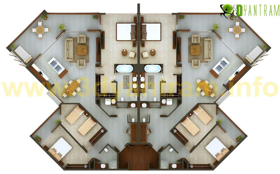 2d floor plan show