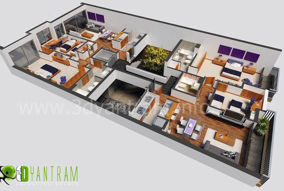 3d floor plan design.. show