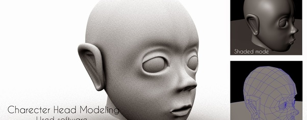 Charecter head modeling final out wide