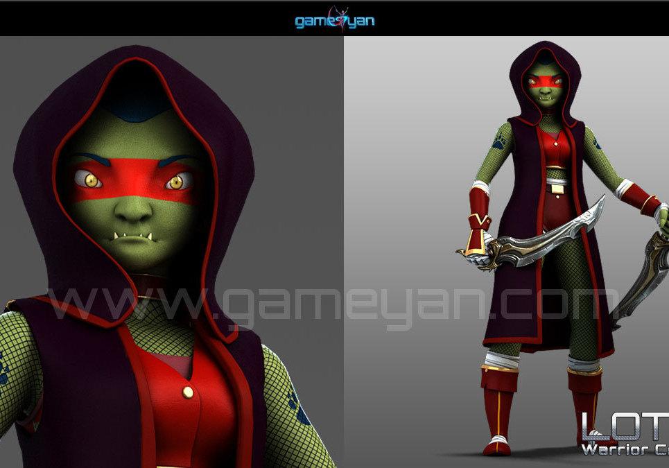 Lotha warrior creature character rigging show