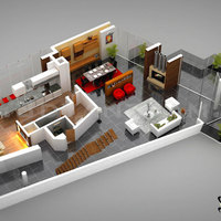 3d residential ground floor plan cover