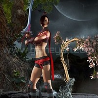 3d lady warrior character animation cover