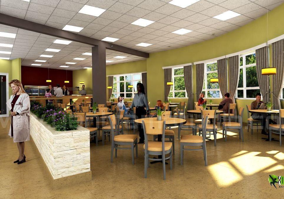 3d hospital lobby interior design rendering show