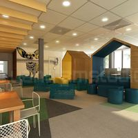 3d interior cafeteria design cover