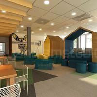 3d interior cafeteria design cover