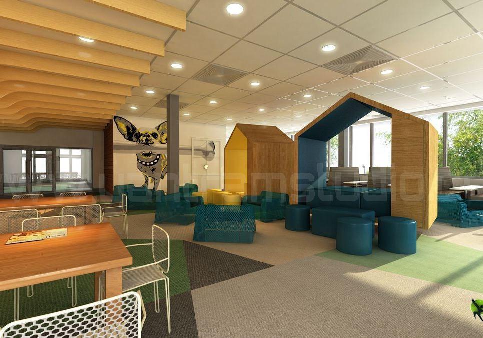 3d interior cafeteria design show