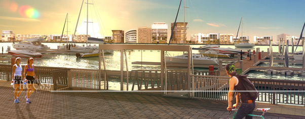 3d architectural rendering 16 wide