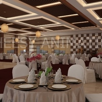3d interior banquet rendering cover