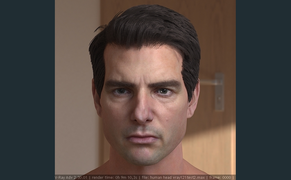 3d model tom cruise head 1 show