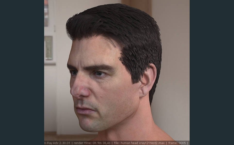 3d model tom cruise head 2 show