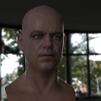3d model matt damon head 15 cover