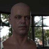 3d model matt damon head 15 cover