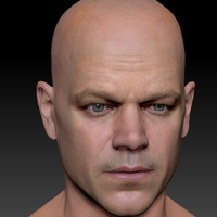 3d model matt damon head 1 cover