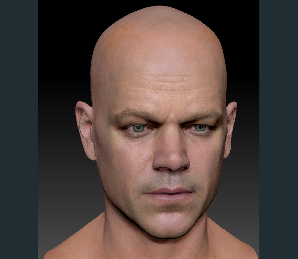 3d model matt damon head 1 show