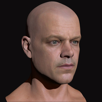 3d model matt damon head 4 cover