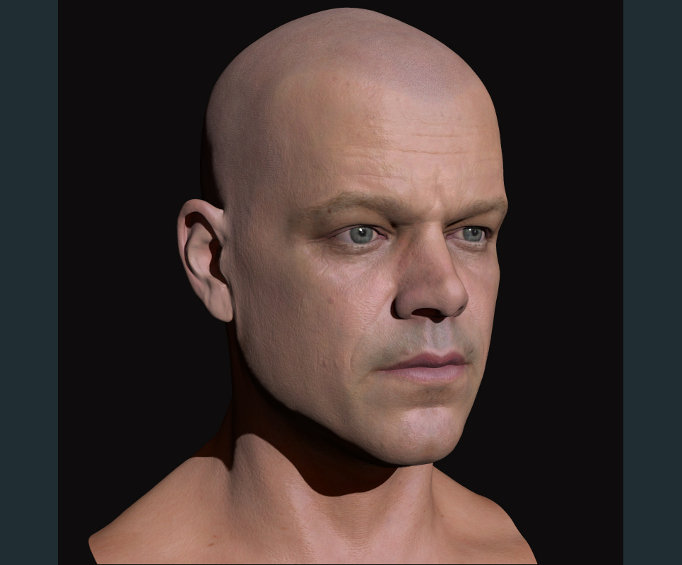 3d model matt damon head 4 show