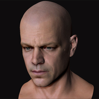 3d model matt damon head 5 cover