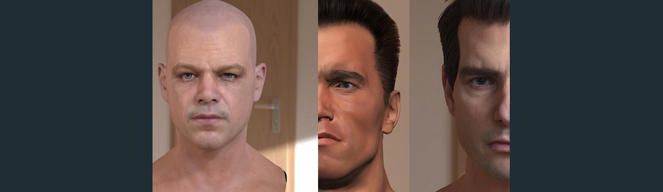 3d model matt damon head test show