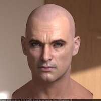 3d model human head male 1 cover