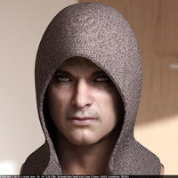 3d model human head male 7 cover
