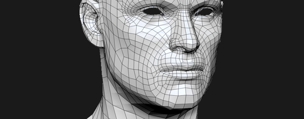 3d model human head male mesh wide