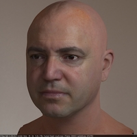 3d model realistic male human head  cover