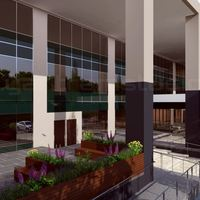 3d spacious building exterior design cover