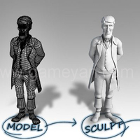 Game character  modeling sculpting texturing studio cover
