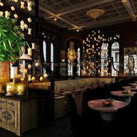 Night view 3d interior cgi restaurant cover