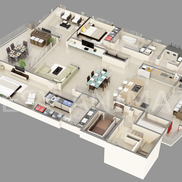 3d typical isometric plan small