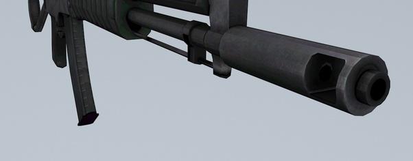 Gun ak47 front wide