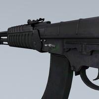Gun ak47 side cover
