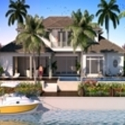 Exterior 3d architectural rendering small