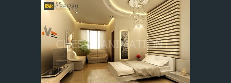 3d interior rendering guest room show