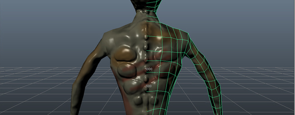 Zombie back wireframe wide