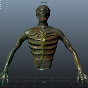 Zombie front wireframe small
