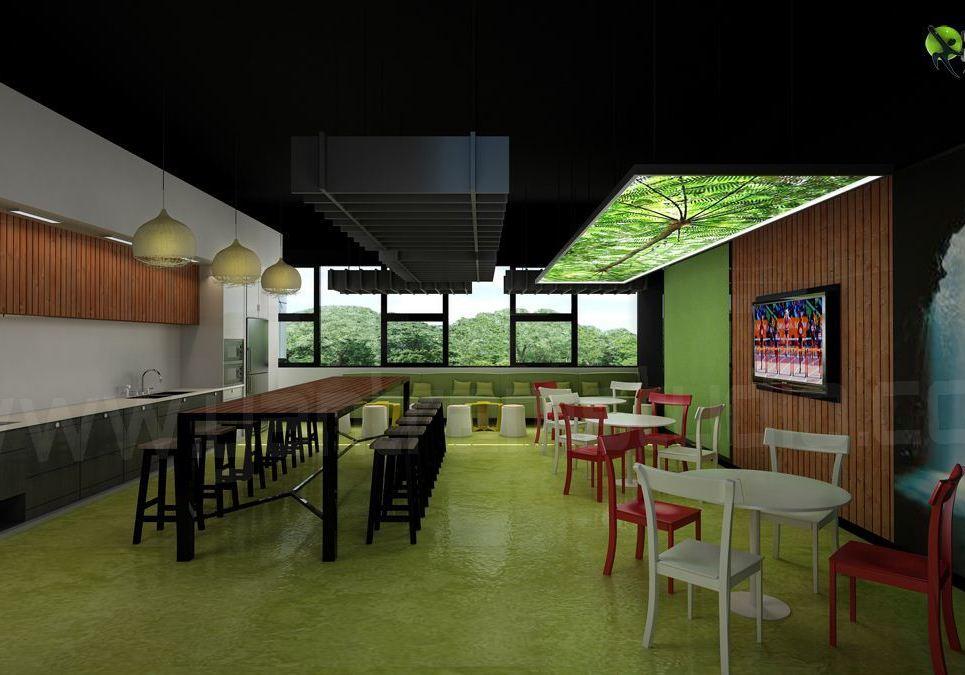 Office 3d interior design break out show