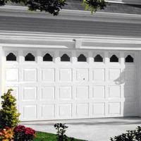 Elegant white garage door panel cover