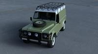 Land Rover Defender 110 Hard Top w interior HDRI 3D Model