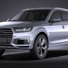 Audi Q7 e-tron 2017 VRAY 3D Model